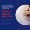 Be Counted UP Grant Application Available